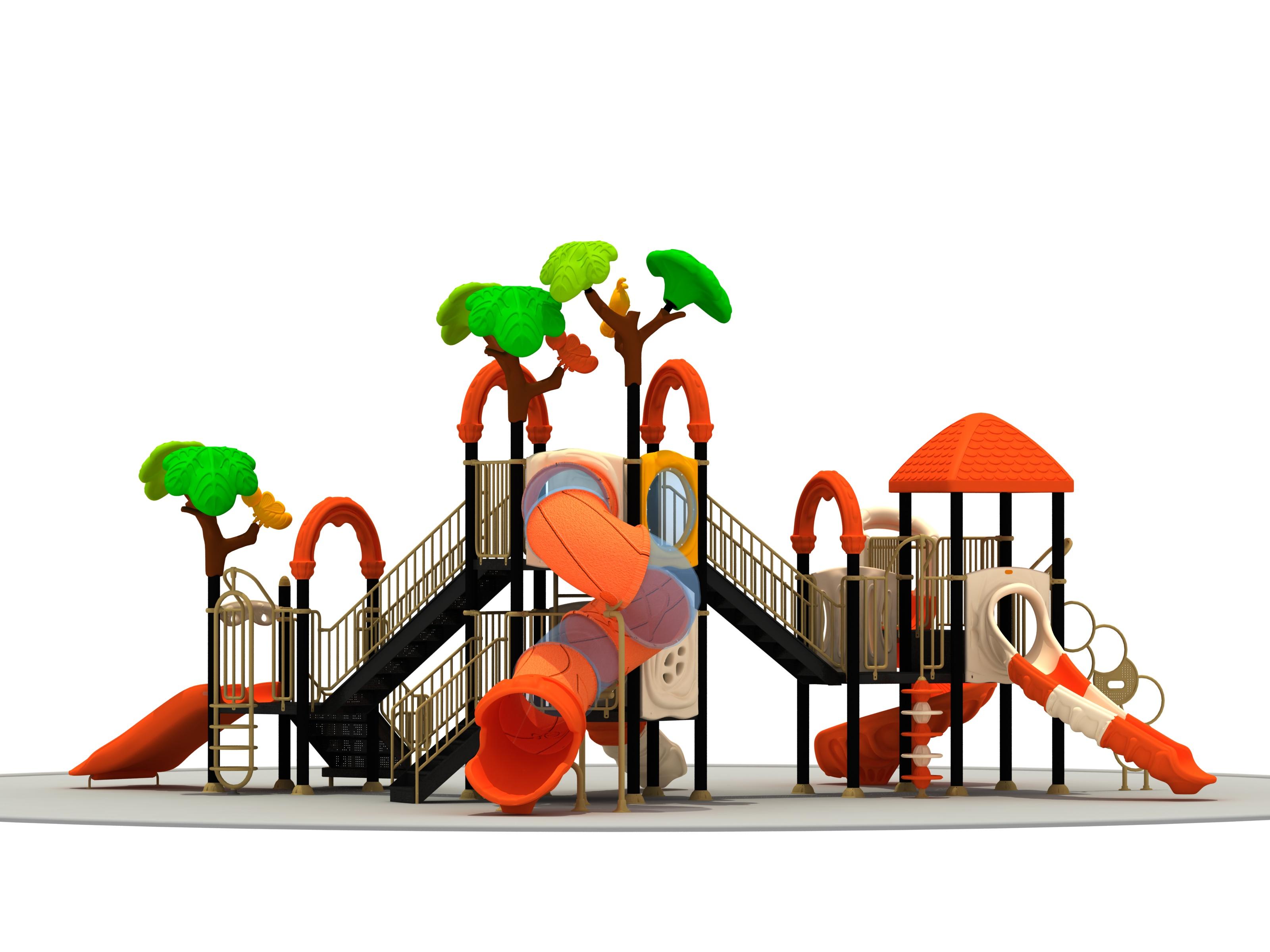 幼儿园滑梯背面图